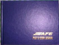 PERSONAL  FLIGHT LOG BOOK, HARD BOUND